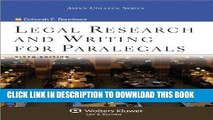 [PDF] Legal Research   Writing for Paralegals, 6th Edition (Aspen College Series) Popular Online