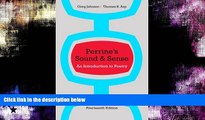 #A# Perrine s Sound and Sense: An Introduction to Poetry (Perrine s Sound   Sense: An Introduction