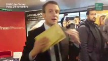 Macron a eu droit à un accueil hostile de la CGT dans une Fnac à Paris