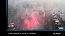 Les pompiers en colère, ils bloquent le périphérique parisien (Vidéo)