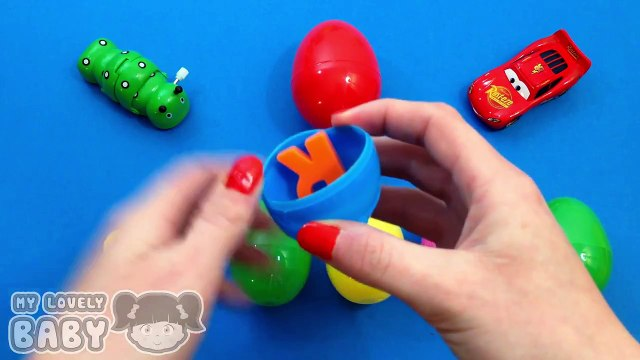 Peppa Pig Learn a Word with Letters Surprise Eggs! Learn Fruit! Lesson 13