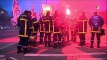 Colère : les pompiers dans la rue