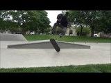Skateboarder Pulls Off Impressive Pressure 360 Inward Heelflip