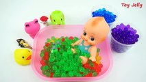 ᴴᴰ Learn Colors Baby Doll Bath Time with ORBEEZ Surprise Toys Peppa Pig Paw Patrols Toddlers Learni