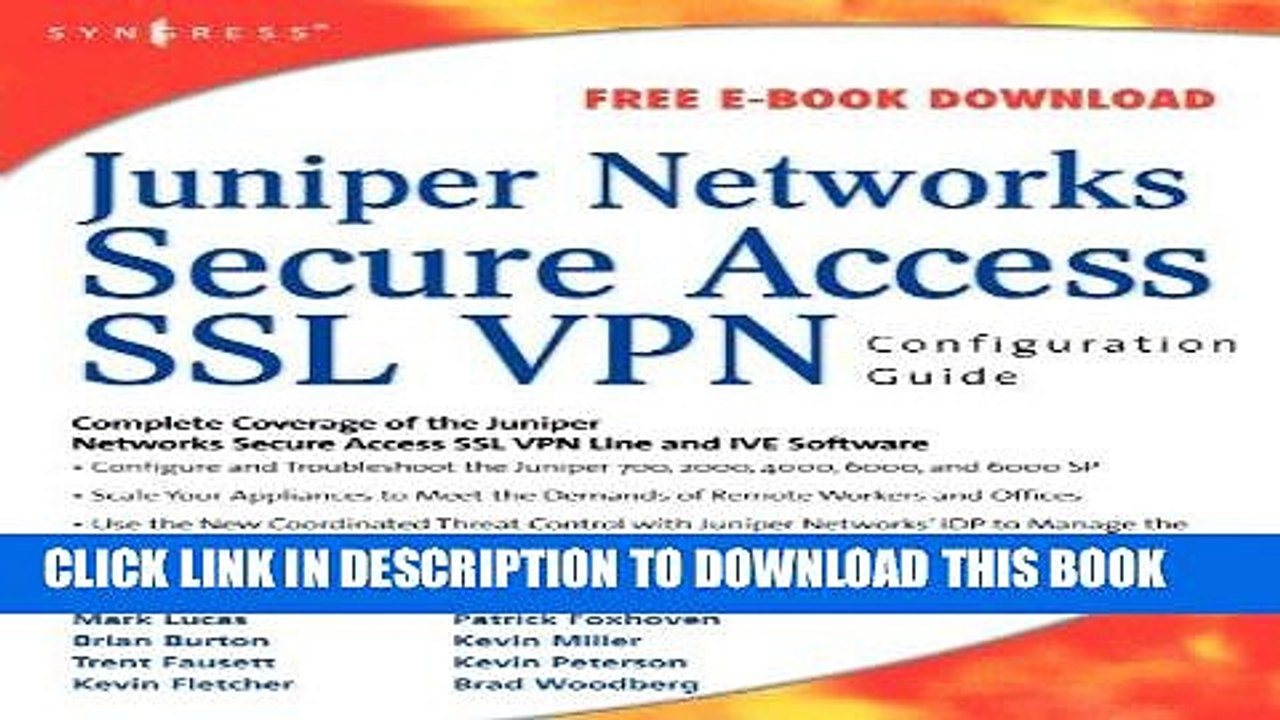 [PDF] Download Juniper Networks Secure Access SSL VPN Configuration Guide  Full Kindle