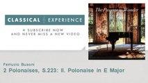 Franz Liszt : 2 Polonaises, S.223: II. Polonaise in E Major