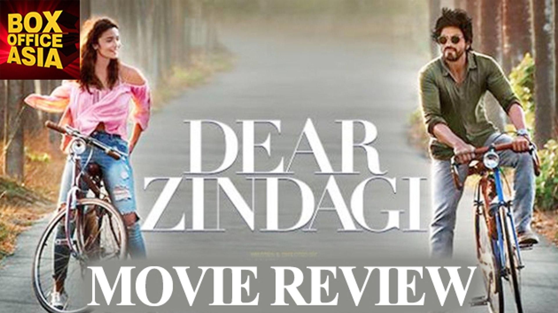 Dear Zindagi Movie Review| Shahrukh Khan| Alia Bhatt| Gauri Shinde | Box Office Asia