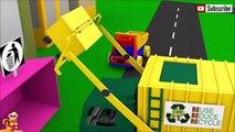 子供向けアニメ♫テーマ-ごみ収集車。ゴミ箱をクリーンアップし|おもちゃアニメ 車♫ スーパーヒーローアンパンマン