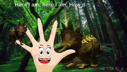 3D Dinosaurs Finger Family Cartoon   Nursery Rhymes Songs   Finger Family Dinosaur