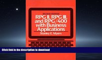 READ  RPG II, RPG III, and RPG/400 with Business Applications (2nd Edition) FULL ONLINE