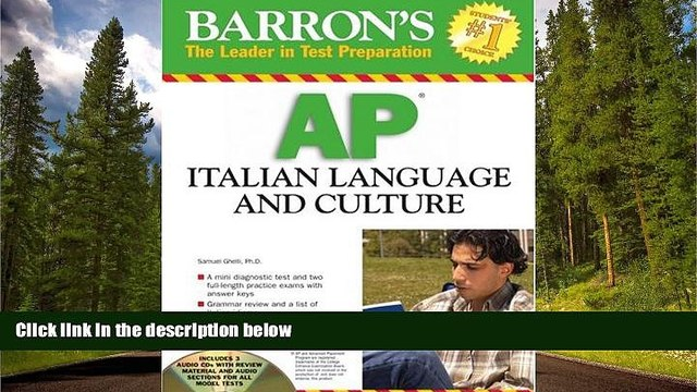 READ book  Barron s AP Italian Language and Culture: with Audio CDs READ ONLINE