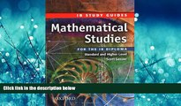 READ book  Mathematical Studies for the IB Diploma: Study Guide (International Baccalaureate)