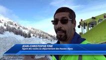D!CI TV : Hautes-Alpes : Les agents des routes à pied d'oeuvre dans le déneigement du col de Vars