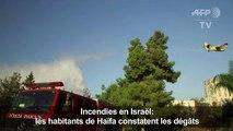 Incendies en Israël: des habitants d'Haïfa constatent les dégâts