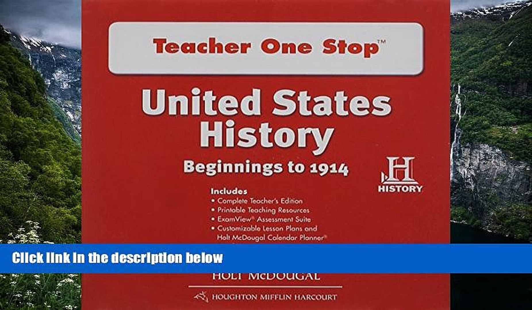 Buy NOW HOLT MCDOUGAL United States History: Teacher One Stop DVD-ROM Beginnings to 1914  Hardcover