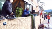 Corse: Après les intempéries les habitants nettoient les dégâts