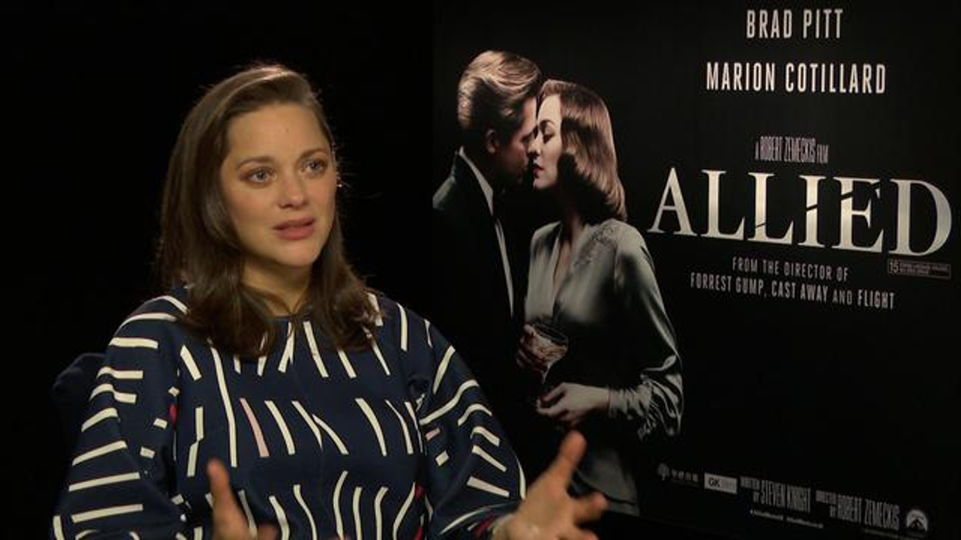 Marion Cotillard On Starring With Brad Pitt In Allied Chemistry