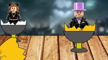SUPERHEROES LEGO BATMAN, CATWOMEN, RIDDLER, PENGUIN, JOKER | 5 SURPRISE EGGS #Animation FOR KIDS