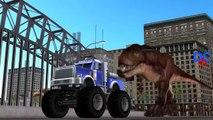 Monster Truck Vs Dinosaurs Fighting | Dinosaurs Cartoons for Children | Sharks Dinosaurs Fighting