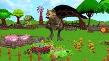 Gaint Dinosaurs Finger Family Mega Collection | Dinosaurs T-REX Cartoon Nursery Rhymes For Children