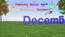 Months of Calendar Year - Kids Helicopter Friends Kindergarten Video