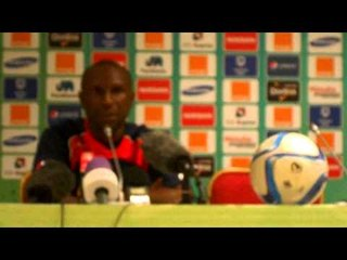 CAN2015: Florent Ibengue en conférence de presse avant le match contre le Congo Brazzaville