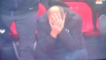 Toulouse's Manager Pascal Dupraz Gets Hit In The Head By A Bottle vs Rennes!