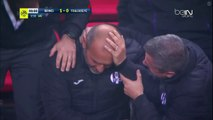 Pascal Dupraz (Toulouse Coach) Head Hit by a Fan with a bottle of water.