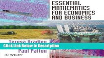 [PDF] Essential Mathematics for Economics and Business [Read] Full Ebook