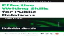 [PDF] Effective Writing Skills for Public Relations (Institute of Public Relations PR in Practice)