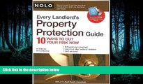 FAVORIT BOOK Every Landlord s Property Protection Guide: 10 Ways to Cut Your Risk Now (book w/