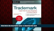 Download Stephen Elias Attorney Trademark: Legal Care for Your Business   Product Name Hardcover