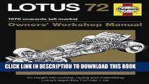 [PDF] Epub Lotus 72 Manual: An Insight Into Owning, Racing and Maintaining Lotus s Legendary