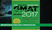 Best Price GMAC (Graduate Management Admission Council) The Official Guide for GMAT Review 2017