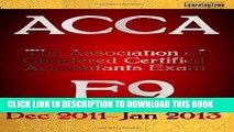 EPUB DOWNLOAD LearningTree ACCA F9 PDF Online