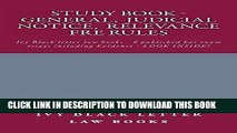 EPUB DOWNLOAD Study Book - General,  Judicial Notice,  Relevance  FRE Rules: A Jide Obi law book