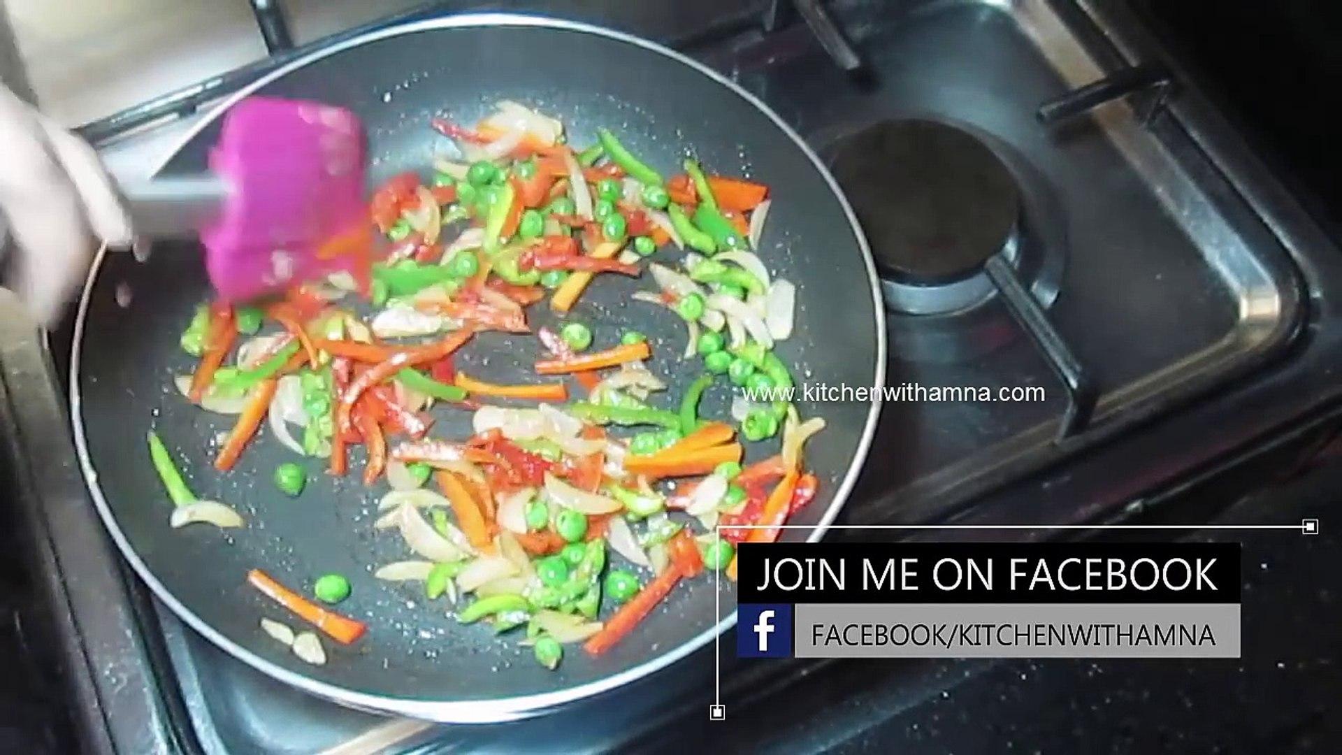 Vegetable Cheese Omelet Recipe - Vegetable Omelet Recipe - Easy Breakfast Recipe
