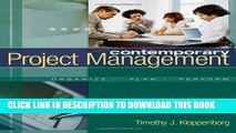 MOBI DOWNLOAD Contemporary Project Management (with Microsoft Project CD-ROMs and Student CD-ROM)