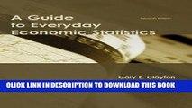 EPUB DOWNLOAD A Guide to Everyday Economic Statistics PDF Ebook