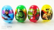 Superheroes Surprise Eggs Opening Iron Man Hulk Thor & Captain America Marvel Toys