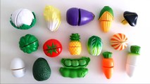 Learn names of fruits vegetables egg with velcro cutting toy foods esl learn english