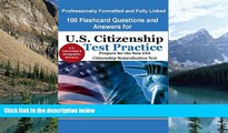 Buy US Citizenship and Immigration USCIS 100 Flashcard Questions and Answers for U.S. Citizenship