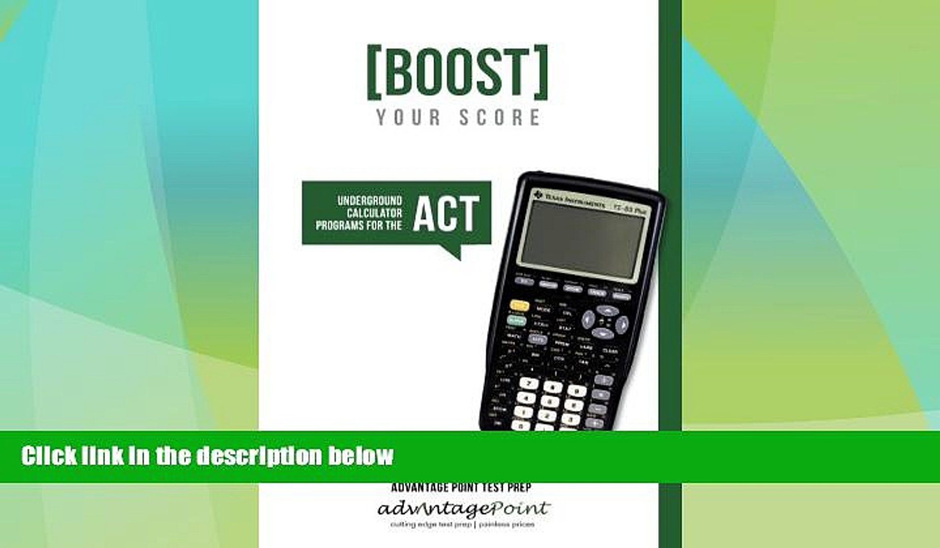 Download Advantage Point Boost Your Score: Underground Calculator Programs  for the ACT Test For Ipad