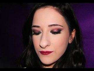 Fall Glitter copper Makeup tutorial - Makeup rame