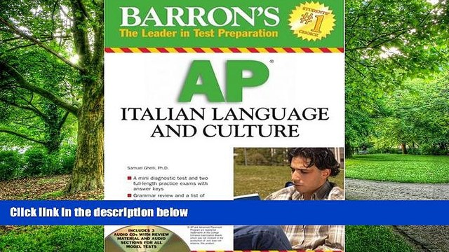 Best Price Barron s AP Italian Language and Culture: with Audio CDs S. Ghelli On Audio