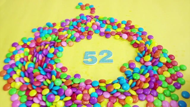 Learning To Count Numbers with M&M Candy Learning Toddler Counting Videos