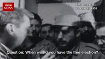 Fidel Castro on his beard, free election & gambling (1959) - BBC News