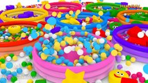 Learn Shapes for Children Baby Toddlers Kindergarten Kids 3D Colors Ball Pit Show HeroFUN TV