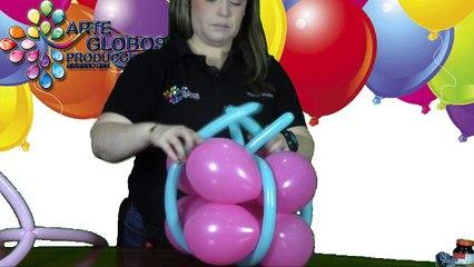 Como hace un Regalo en globos. Curso de Globos
