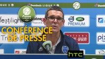 Conférence de presse ESTAC Troyes - Clermont Foot (1-0) : Jean-Louis GARCIA (ESTAC) - Corinne DIACRE (CF63) - 2016/2017
